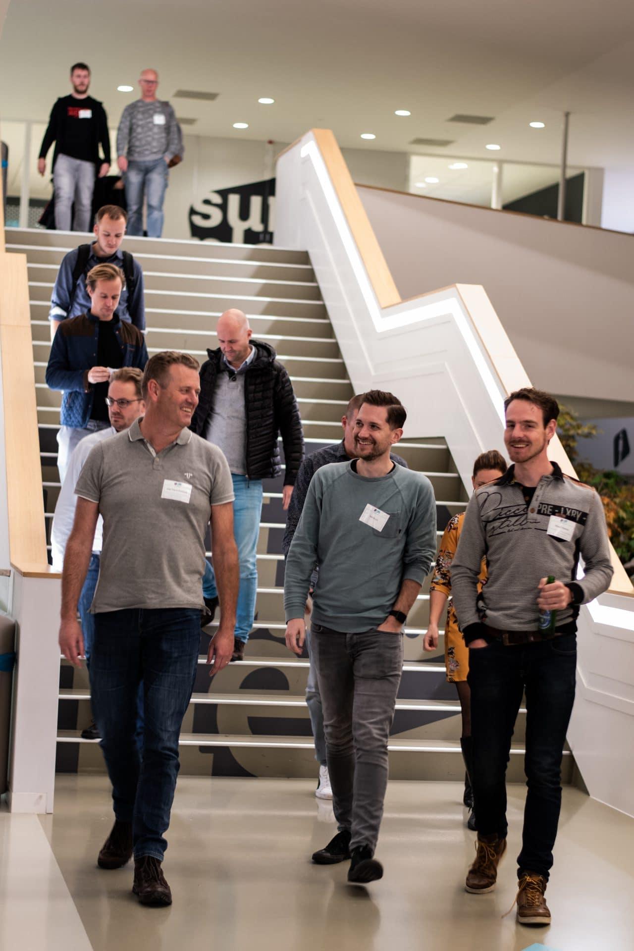 deelnemers op trap tijdens IT=Alkmaar Event